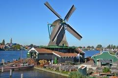 Mulini a vento storici di Zaanse Schans Immagine Stock Libera da Diritti