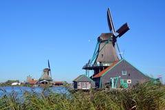 Mulini a vento storici di Zaanse Schans Fotografie Stock Libere da Diritti