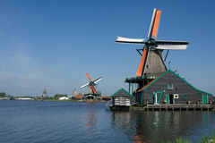 Mulini a vento sul lavoro Fotografia Stock