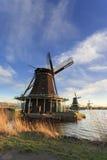 Mulini a vento tipici di Zaanse Schans Immagini Stock Libere da Diritti