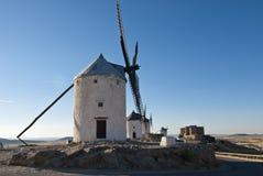 Mulini a vento tradizionali in Spagna Fotografia Stock