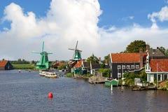 Mulini a vento in Zaanse Schans Immagine Stock