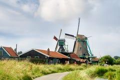 Mulini a vento in Zaanse Schans Immagini Stock Libere da Diritti