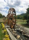 Mulino a acqua al parco di EL ParaÃso a Cuenca, Ecuador fotografia stock libera da diritti