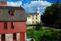 Mulino dell'operaio che ricopre i tetti con lastre d'ardesia, Pawtucket fotografia stock libera da diritti
