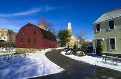Mulino dell'operaio che ricopre i tetti con lastre d'ardesia, Pawtucket, RI Immagine Stock Libera da Diritti
