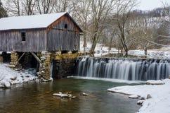 Mulino di Cowans, inverno, Lee County Virginia Fotografia Stock