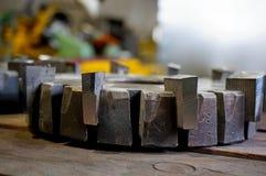 Mulino di estremità una volta affilato alla fabbrica immagini stock libere da diritti