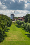 Mulino di Koelewei, Bruges Immagine Stock