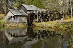 Mulino di Mabry, Ridge Parkway blu, Nord Carolina Immagini Stock Libere da Diritti