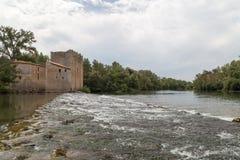 Mulino di Roquemengarde al d'herault di Usclas, Francia Immagine Stock Libera da Diritti