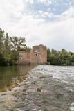 Mulino di Roquemengarde al d'herault di Usclas, Francia Fotografia Stock