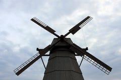 Mulino di vento in Bielorussia Fotografia Stock