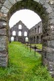 Mulino in disuso dell'ardesia di Pont y Pandy, Galles del nord, Regno Unito Immagini Stock