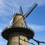 Mulino Kyck sopra la tana Dyk in Dordrecht, Paesi Bassi fotografie stock libere da diritti