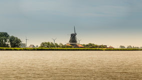 Mulino in Olanda Fotografie Stock Libere da Diritti