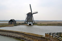 Mulino su Texel. Fotografia Stock