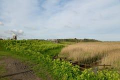 Mulino a vento al Cley-seguente--mare, Norfolk immagini stock libere da diritti