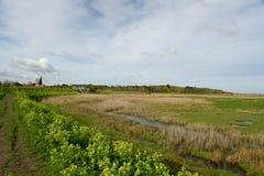 Mulino a vento al Cley-seguente--mare, Norfolk immagine stock libera da diritti