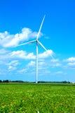 Mulino a vento al parco eolico Fotografia Stock Libera da Diritti