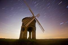 Mulino a vento alla notte Fotografia Stock Libera da Diritti