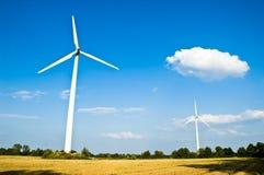 Mulino a vento ambientale Fotografie Stock Libere da Diritti