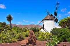 Mulino a vento in Antigua, Fuerteventura, isole Canarie Fotografia Stock Libera da Diritti