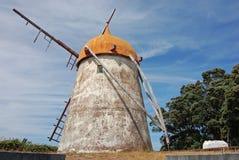 Mulino a vento in Azzorre Immagine Stock Libera da Diritti