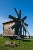 Mulino a vento. Bella isola di Kizhi Immagini Stock Libere da Diritti