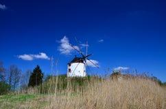 Mulino a vento bianco Immagini Stock