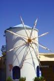 Mulino a vento bianco su Zacinto Immagine Stock Libera da Diritti
