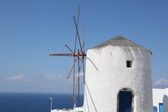 Mulino a vento greco Fotografia Stock Libera da Diritti