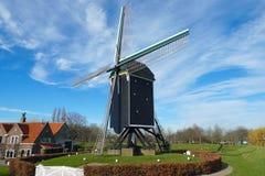 Mulino a vento in Brielle, Paesi Bassi fotografia stock libera da diritti