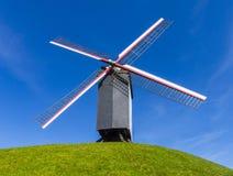 Mulino a vento Bruges Belgio Fotografie Stock Libere da Diritti