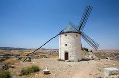 Mulino a vento in Campo de Criptana La Mancha, Consuegra, itinerario di Don Quixote, Spagna immagine stock
