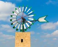 Mulino a vento Campos Balearic Island di Mallorca Maiorca Fotografie Stock