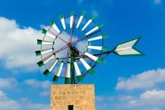 Mulino a vento Campos Balearic Island di Mallorca Maiorca Immagini Stock Libere da Diritti