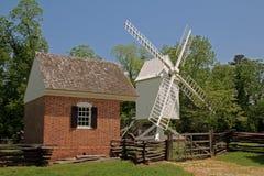 Mulino a vento coloniale di Williamsburg Immagine Stock