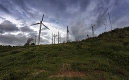 Mulino a vento con cielo blu in Tailandia Fotografie Stock Libere da Diritti
