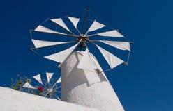 Mulino a vento in Crete Grecia Fotografia Stock