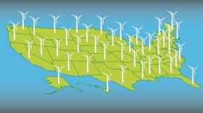 Mulino a vento degli S.U.A. Immagine Stock