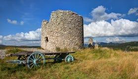 Mulino a vento del Mure - Vassieux Vercors - in Francia fotografie stock