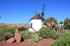 Mulino a vento dell'Antigua (Molino de Antigua). Fuerteventura, isole Canarie, Spagna. Immagini Stock Libere da Diritti