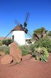 Mulino a vento dell'Antigua (Molino de Antigua). Fuerteventura, isole Canarie, Spagna. Fotografia Stock