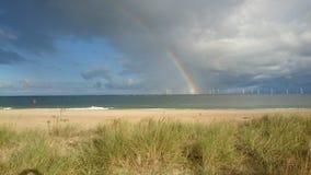 Mulino a vento dell'arcobaleno Fotografie Stock Libere da Diritti