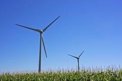 Mulino a vento dell'energia pulita fotografia stock
