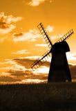Mulino a vento della campagna Fotografia Stock Libera da Diritti