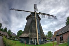 Mulino a vento della città, Laren, Paesi Bassi Fotografie Stock Libere da Diritti