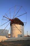 Mulino a vento della Grecia Mykonos Fotografia Stock Libera da Diritti