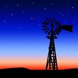 Mulino a vento della prateria Fotografia Stock